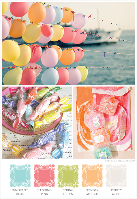 Mood board for Easter pastels